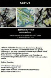 Carton Hélène Routhier-Azimut